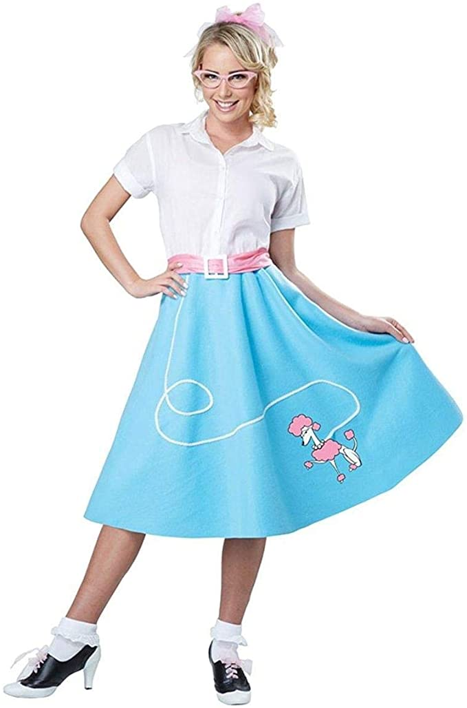 1950s Costumes- Poodle Skirts, Grease, Monroe, Pin Up, I Love Lucy California Costumes Womens Blue 50S Poodle Skirt Adult Woman Costume $24.88 AT vintagedancer.com