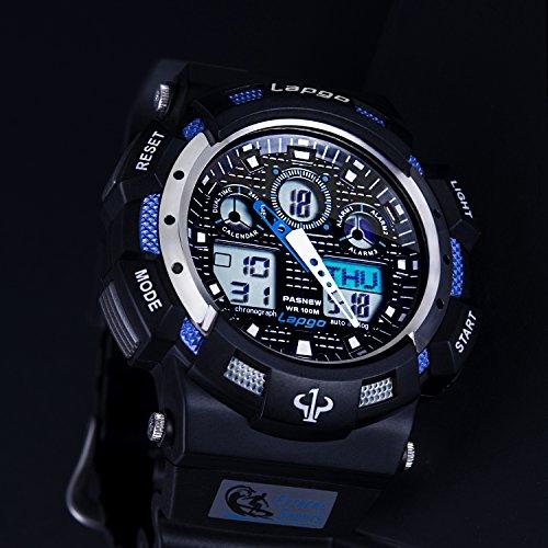 Men-Analogue-Digital-Quartz-Watch-100M-Waterproof-Wrist-Watch-for-Mens-Boys-Timer-Big-Face-Dual-Dial-Business-Casual-LCD-Electronic-Back-Light-Wristwatch