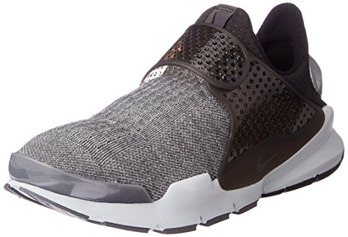 Nike Men's Sock Dart SE Premium Dark Grey/Black/Pure Platinum Running Shoe 9 Men US (Shoes Laceless Nike)