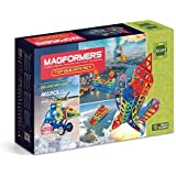 Magformers Top Builder (465 Piece) Deluxe Magnetic    Building      Blocks, Educational  Magnetic    Tiles Kit , Magnetic    Construction  STEM Toy Set
