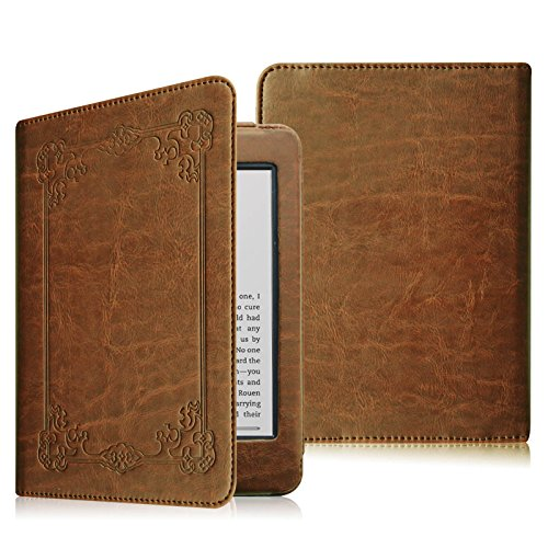Fintie Folio Case for Kindle Paperwhite - The Book Style PU Leather Cover with Auto Sleep/Wake for All-New Amazon Kindle Paperwhite (Fits 2012, 2013, 2015 and 2016 Versions), Vintage Antique Bronze by Fintie