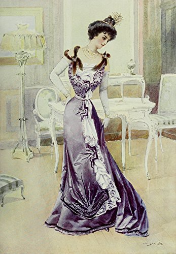 Latest Paris Fashions 1877 Robe de Bal Poster Print by Unknown (24 x 36) -