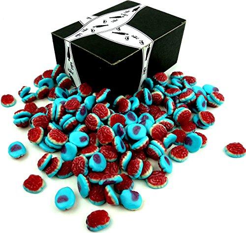 Halloween Brain Cupcakes (Vidal Gummi Brains, 2.2 lb Bag in a Gift)