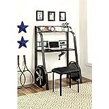Furniture of America Parham Kids Desk with Stool in Gun Metal