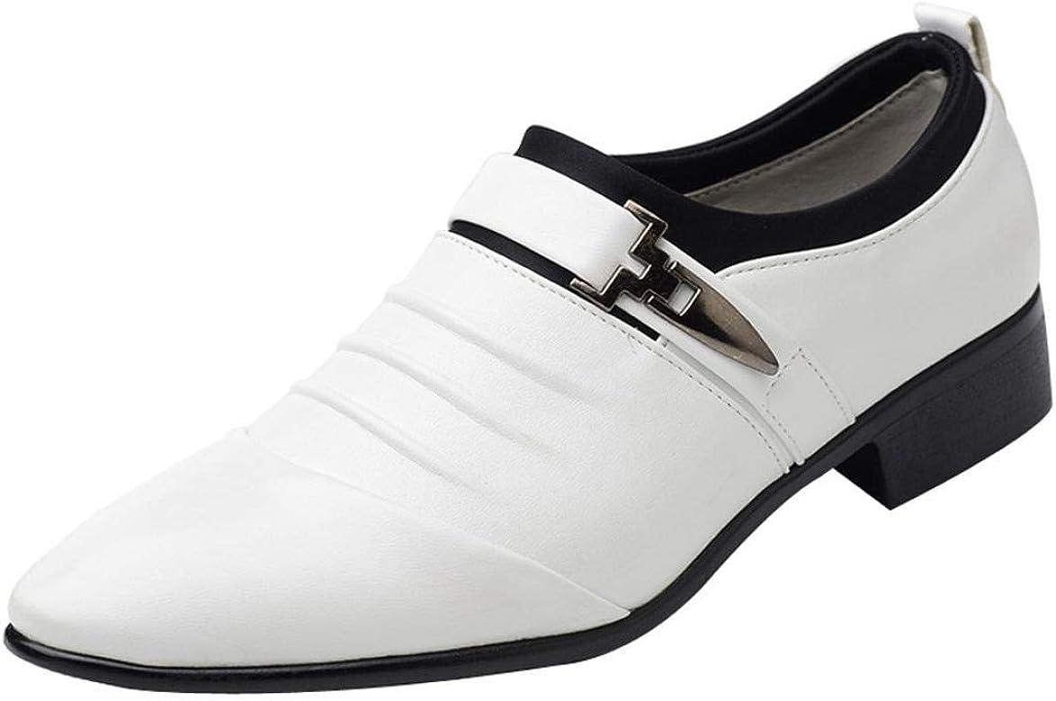 Mocasines Zapatos Oxford Hombre, QinMM Cuero Vestir Calzado Boda ...