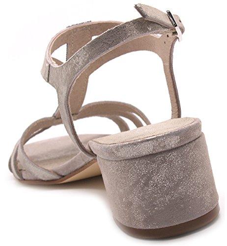 Carmens padova - Sandalias de vestir de Piel para mujer Grigio/Beige