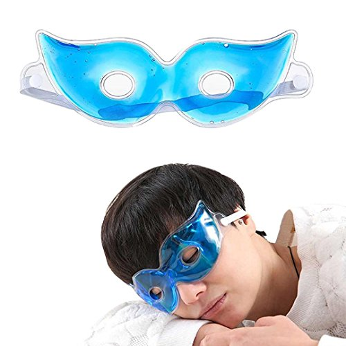 DDLBiz Sleeping Ice Eye Mask Travel Sleep Aid Cover Prevention Black eye Blindfold Shade