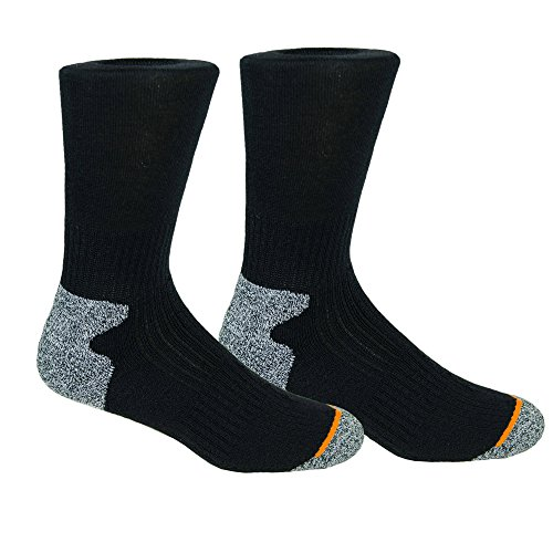 Weatherproof Premium Wool Blend Socks 4 Pair (Black), 6-12