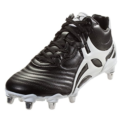Gilbert Celera V3 High 8S Rugby Boot, Black, US 10