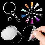 BigOtters Blank Acrylic Discs, 90 PCS Transparent