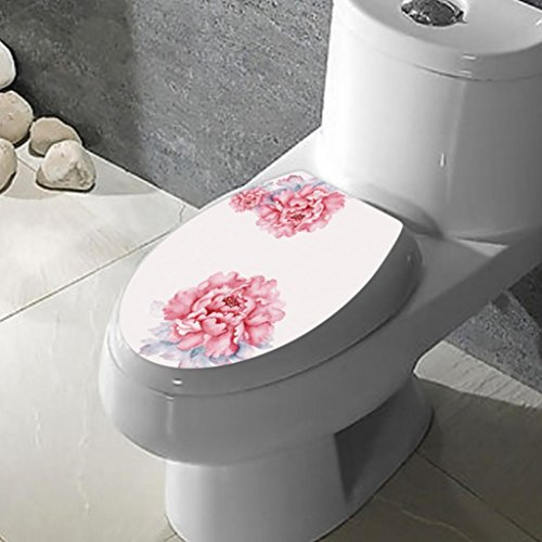Vibola 3D DIY Toilet Seats Wall Stickers Removable Bathroom Decoration Decal Vinyl Mural Home Decor (Decal Seat)