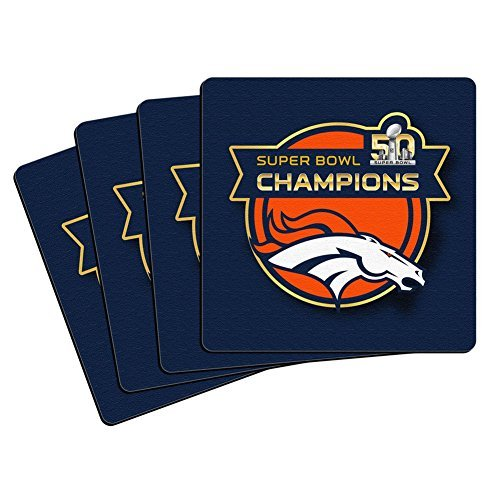 Denver Broncos Super Bowl Champions Drink Coasters by Boelter