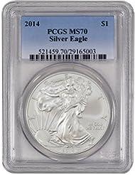 2014 American Silver Eagle $1 MS70 PCGS