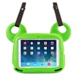 New iPad 9.7 2017 / 2018 iPad Air 2 / iPad Air Case,ACEGUARDER Kidsproof + Shockproof + Light Weight EVA Case with Adorable Bear Unique Design Stand for Kids(Green)