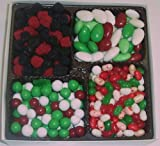 Scott's Cakes Large 4-Pack Christmas Mix Jelly Beans, Dutch Mints, Christmas Jordan Almonds, & Rasp. & Blackberries