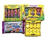 Easter Candy Bundle - Peeps, Marshmallow Bunnies. Crisp n Crunchy Bunnies, Cookies & Creme Easter Eggs.