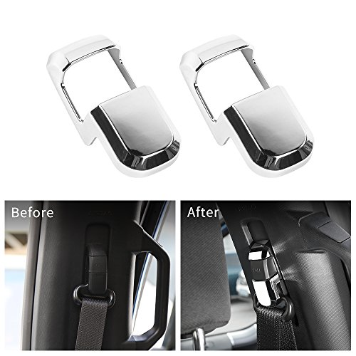 Voodonala Chrome Strip Buckle Covers Trim for Ford F150 2015 2016 2017