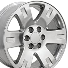 20x8.5 Wheel Fits GM Trucks & SUVs - GMC Yukon Style Polished Rim, Hollander 5307