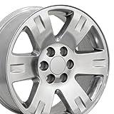 OE Wheels 20 Inch Fits Chevy Silverado Tahoe GMC Sierra Yukon Cadillac Escalade CV81 Polished 20x8.5 Rim Hollander 5307