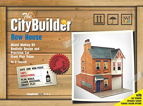 The CityBuilder Row House Cardboard Model Making Kit - O Scale Model Railroad Building