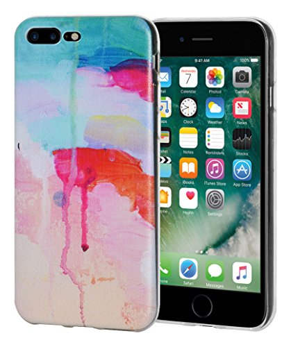 """Amzer Coque """"Abstrait à aquarelle en gel souple en TPU pour Apple iPhone Transparent 7Plus"""