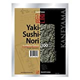 Kaneyama Yaki Sushi Nori / Dried Seaweed (Vacuum-packed/re-sealable), Supreme Gold Grade, Half Size, 100 Sheets