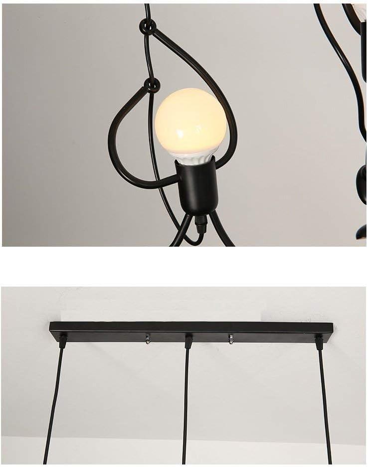 Lustre 3 Ampoules Luminaire 3 Suspension Noir E27 Retro M/étal Suspensions Luminaires Industrielle Vintage Plafonniers Noire Plafonnier 3 Lampes Industriel Luminaire 3 T/ête Plateau rectangulaire