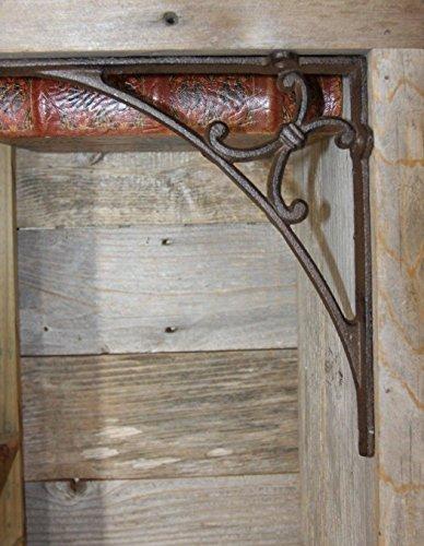 Americana Mailbox Post Pole Decorative Accent, Cast Iron Bracket, 9 3/8