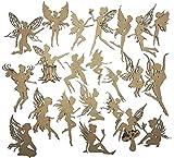 Creative Embellishments Scrapbook Laser Cut Chipboard Fairies Mega Pack 22 pieces (Kraft)