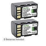 Kastar Battery (2-Pack) for JVC BN-VF815, BN-VF815U and GR-D770 GR-D771 GR-D775 GR-D790 GR-D793 GR-D796 GR-D850 GR-D851 GR-D853 GR-D870 GR-D875 GR-DA30 GS-TD1 GY-HM70 GY-HM100 GY-HM100U GY-HM150