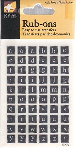 (Black Alphabet Rub-ons for Scrapbooking (RO1241))