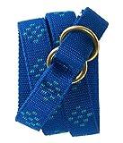 Aeropostale Womens Polka Dot Webbed Woven Belt Blue M