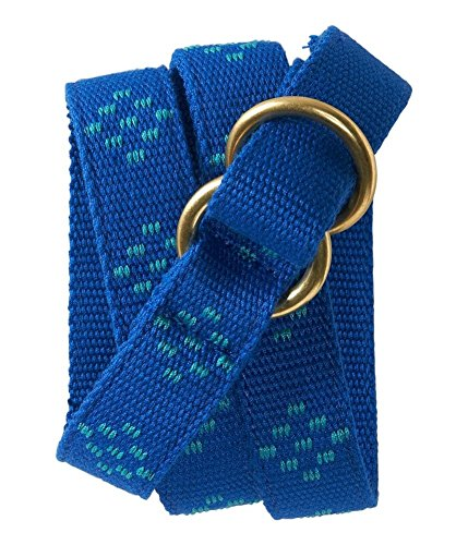 Aeropostale Womens Polka Dot Webbed Woven Belt, Blue, Large