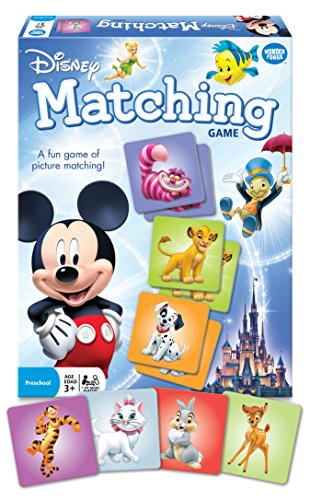 Wonder Forge Disney Classic Characters Matching Game  for Boys & Girls Age 3 and Up - A Fun & Fast Memory Game You Can Play Over & Over ()