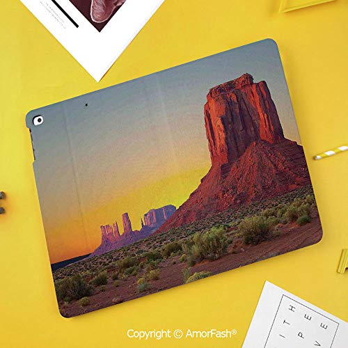 Printed Case for Samsung Galaxy Tab S4 Corner Protection Premium Vegan Leather Stand Cover,House Decor,Sunset in Famous Grand Canyon Archaic Natural Wonders of World Heritage Photo,Red Yellow