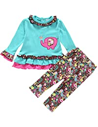 YOA Infant Baby Girls Clothing Sets T Shirt and Pants