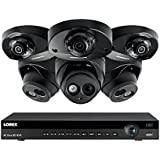 Lorex 8 channel NR9082 4K Audio Security System 4KHDIP833AN- 3 4K 8MP LNE8950A Audio Turret Cameras, 3 2K 4MP LND4750ABW Audio Dome Cameras