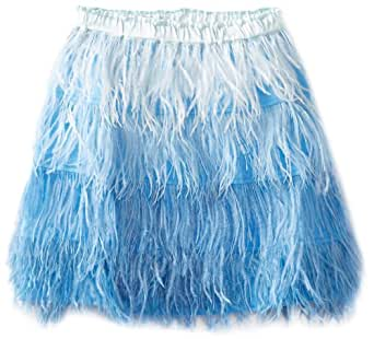 Curio+Kind Big Girls' Feather Skirt, Blue Ombre, 8