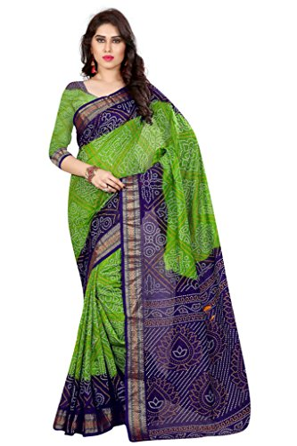 Bandhni saree ( Nirja Creation Fancy Designer Partywear Bandhni saree ) (Green1)