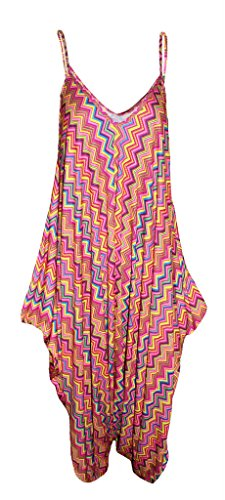 WearAll - Robe - A bretelles - Sans Manche - Femme multicolore Multicoloured -  multicolore - 46