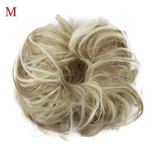Fullfun Frauen kurze lockige chaotisch Perücken Haarverlängerungen braun schwarz M
