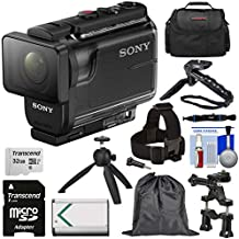 Sony Action Cam HDR-AS50 Wi-Fi HD Video Camera Camcorder with Action Mounts + 32GB Card + Battery + Shooting Grip + Tripod + Case + Kit