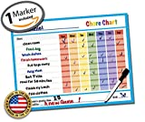 "Dry Erase Reward Chore Chart - 14.5"" x 11"" inches Kids Classroom Home Teaching Resource Teach Children Good Behavior Non Magnetic Vinyl Decal Sticker Child Incentive Teacher Student Tool"