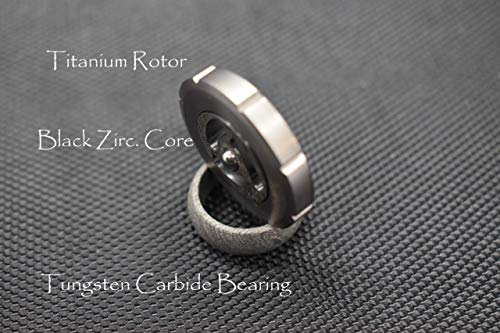 MetonBoss World's 1st Stemless Performer Spinning Top: Black Zirconium Core / Titanium Rotor / Tungsten Carbide Bearing | Gift for him EDC (Polished Titanium)