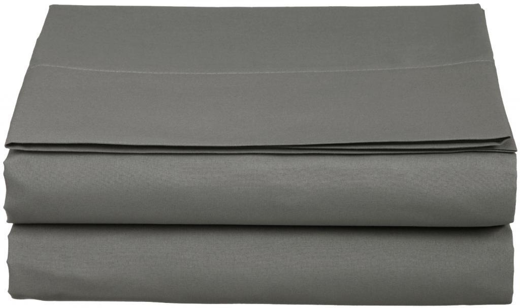 Clara Clark ® Supreme 1500 Collection Single Flat Sheet - Twin (Single) Size, Black COMINHKR074744
