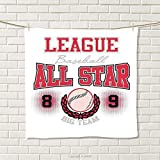 smallbeefly Kids Hand Towel College Baseball Softball Player League All Star Big Team Badge Champion Sports Themed Decorations Quick-Dry Towels Size: W 20'' x L 24''