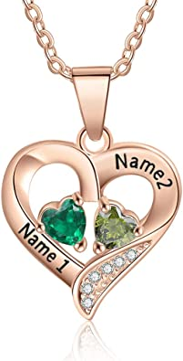 Romantic Heart Name Necklace For Women Girl Jewelry Custom Name Wedding Gifts-Birthday Gifts,Valentine gift
