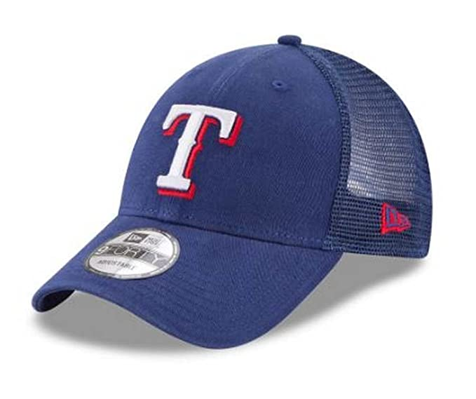 new product 1f61f ed95a Image Unavailable. Image not available for. Color  New Era MLB Texas Rangers  Trucker 9Forty Adjustable Baseball Hat ...
