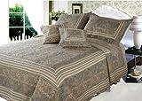 DaDa Bedding DXJ101873 Paradise Cotton 5-Piece Quilt Set, Queen, Paisley