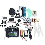 QWinOut Full Set ARF Unassembly 2.4G 6CH 500mm RC Quadcopter GPS APM2.8 Flight Control with Gimbal Mount DIY FPV Drone Combo